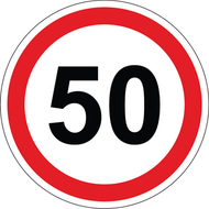 Наклейка 50 км/ч, фото 1