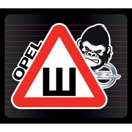Наклейка Шипы Opel горилла, фото 1