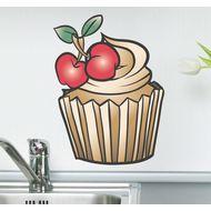 Наклейка Вишневый кекс, фото 1