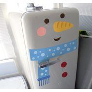 Наклейка на холодильник Снеговик, фото 1
