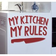 Наклейка My kitchen my rules, фото 1