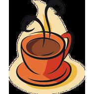 Наклейка Ароматный кофе, фото 1