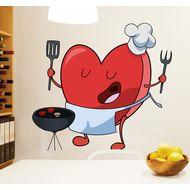 Наклейка Heart cooks, фото 1