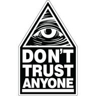 Наклейка Don't Trust Anyone, фото 1