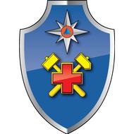 Наклейка ВГСЧ МЧС РФ средняя эмблема, фото 1