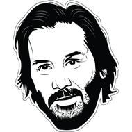 Наклейка Keanu Reeves, фото 1