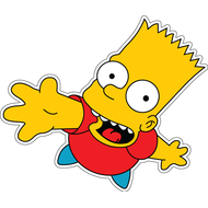Наклейка Барт Симпсон, фото 1
