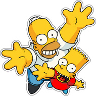 Наклейка Гомер и Барт, фото 1
