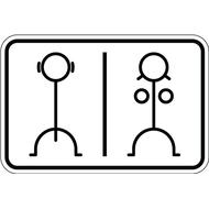 Наклейка Туалет, фото 1
