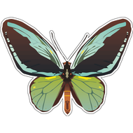 Наклейка Бабочка сине-зеленая, фото 1