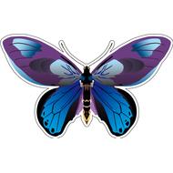 Наклейка Бабочка синяя с фиолетовым, фото 1