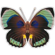 Наклейка Бабочка коричневая, фото 1