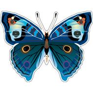 Наклейка Бабочка синяя с пятнышками, фото 1