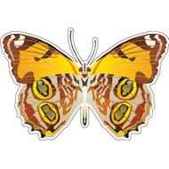 Наклейка Бабочка оранжевая с пятнышками, фото 1