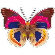 Наклейка Бабочка коричневая с розовым, фото 1