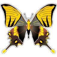 Наклейка Бабочка черно-желтая, фото 1