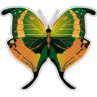 Наклейка Бабочка коричнево-зеленая, фото 1