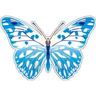 Наклейка Бабочка бело-голубая, фото 1