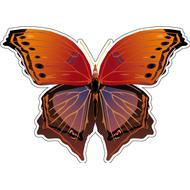Наклейка Бабочка красно-фиолетовая, фото 1