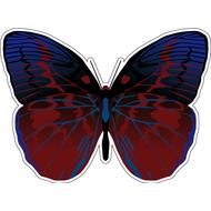 Наклейка Бабочка сине-бордовая, фото 1