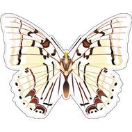 Наклейка Бабочка белая, фото 1