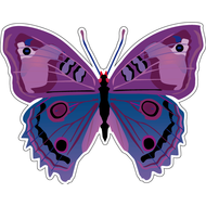 Наклейка Бабочка сине-фиолетовая, фото 1