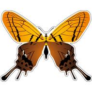 Наклейка Бабочка желто-коричневая, фото 1