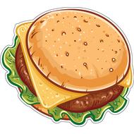 Наклейка Бургер, фото 1