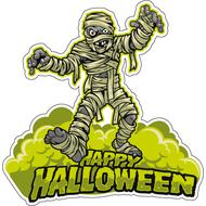 Наклейка Happy Halloween Мумия, фото 1