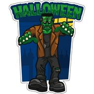 Наклейка Happy Halloween Франкенштейн, фото 1