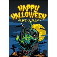 Наклейка Happy Halloween кладбище, фото 1