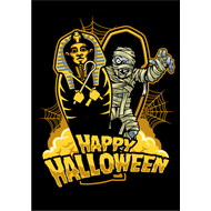 Наклейка Happy Halloween Мумия в саркофаге, фото 1