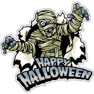 Наклейка Happy Halloween Мумия возвращается, фото 1