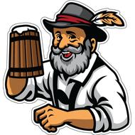 Наклейка Немец с пивом, фото 1