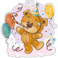 Наклейка Мишка Тедди веселится, фото 1