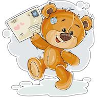 Наклейка Мишка Тедди получил долгожданное письмо, фото 1