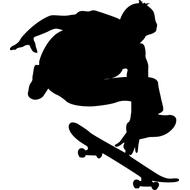 Наклейка Скейтбордист, фото 1