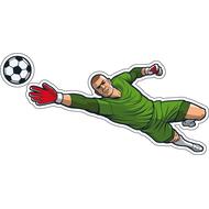 Наклейка Вратарь ловит мяч, фото 1