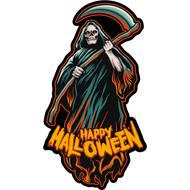 Наклейка Happy Halloween Жнец, фото 1
