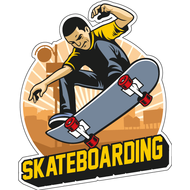 Наклейка Skateboarding, фото 1