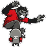 Наклейка Обезьяна на скейте, фото 1
