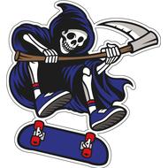 НаклейкаЖнец на скейте, фото 1