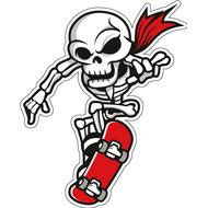 Наклейка Костлявый на скейте, фото 1
