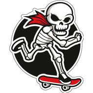 Наклейка Скелет катается на скейте, фото 1