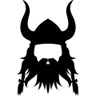 Наклейка Бородатый викинг, фото 1