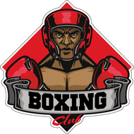 Наклейка Boxing Club Боец в красном шлеме, фото 1