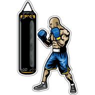 Наклейка Боксер и груша, фото 1