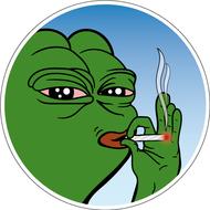 Наклейка Pepe Thug Life, фото 1