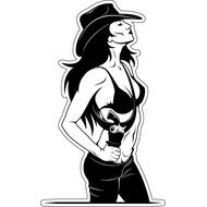 Наклейка Девушка ковбой, фото 1