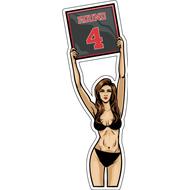 Наклейка Ring Girl, фото 1